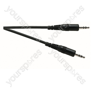 Standard 3.5 mm Stereo Jack Plug to 3.5 mm Stereo Jack Plug Lead - Lead Length (m) 5