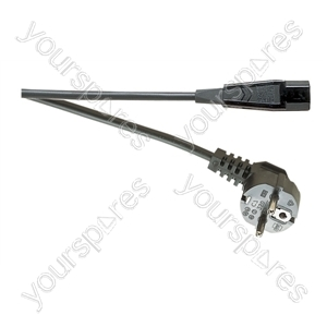 Euro Schuko to IEC Mains Lead 10A - Length (m) 2