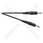 Standard 3.5 mm Stereo Jack Plug to 3.5 mm Stereo Jack Plug Lead - Lead Length (m) 10