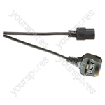 Eagle IEC Mains Lead to 3 Pin UK Plug 5A - Length (m) 0.5