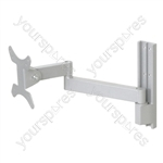 """Universal Flat Screen Wall Mount Bracket with Twin Pivot for Screens up to 24"""""""