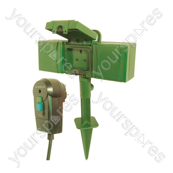 Electric Power Spike : Way weather proof power spike with rcd and m lead