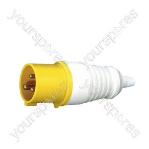 110 V Yellow 16 A 3 Contact High Current In-line Plug