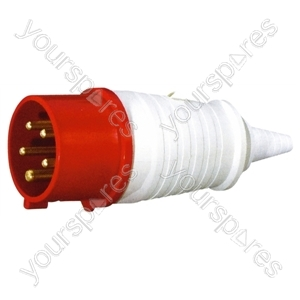 400 V Red 16 A 5 Contact High Current In-line Plug