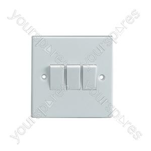 3 Way 2 Gang Light Switch 5A