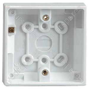 Single Gang Surface Box - Mounting Depth (mm) 19