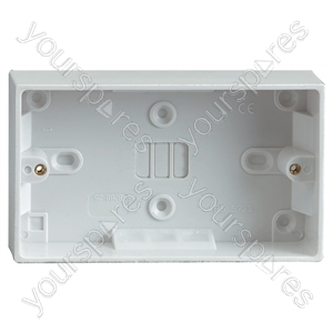 2 Gang Surface Socket Box 30mm