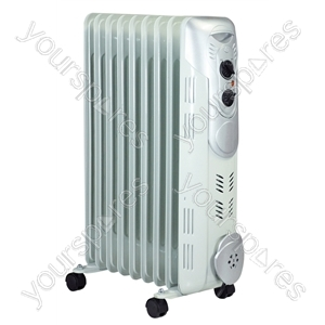 2kW 9 Fin Oil Filled Radiator - Type UK Model
