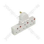 3 Gang Plug-in Switched Extension Socket With Neon Indicators