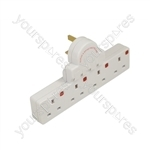 4 Gang Plug-in Switched Extension Socket With Neon Indicators
