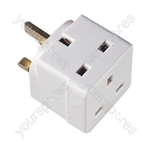 2 Way 13 A Plug-in Adaptor