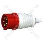 400 V Red 32 A 5 Contact High Current In-line Plug