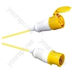 Eagle 110V Yellow 110AC Input High Current Male Line Plug To Female Line Socket Extension Lead - Length (m) 10
