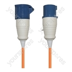 16 A High Current Extension Lead with Orange 2.5mm Cable  - Length (m) 25