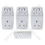 Wireless Plug-In Remote Control  Sockets (3)