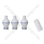 3 Way Wireless Remote Control BC Lamp Holder with Dimmer Function