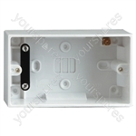2 Gang Surface Pattress Box 47mm - Type Earthed