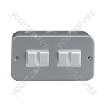 Eagle Silver 6A Four Gang 2 Way Metal Clad Switch Box