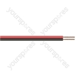 Red/Black 24 Full Copper Figure 8 Speaker Cable 100m coil - Number Strands 24