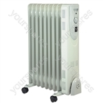 2 kW 9 Fin Oil Filled Radiator