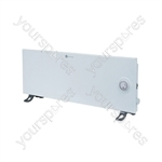 Slimline 1.25 kW White Convector Heater with 24 Hour Timer - Type UK Model