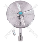"16"" (40 cm) Chrome Wall Fan with Remote Control and Timer"