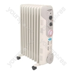 2 kW 9 Fin Oil Filled Radiator with 24hr Timer - Type UK Model