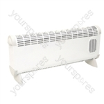 Prem-I-Air 'Bajo' 2.5kW Convector Heater With Turbo Fan - Type UK Model
