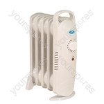 Prem-I-Air 500 W 5 Fin Oil Filled Radiator - Type UK Model