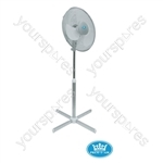 "Prem-I-Air 16"" (40 cm) Silver Oscillating Pedestal Fan with 3 Speed Settings"