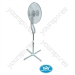 "Prem-I-Air 16"" (40 cm) Silver Oscillating / Height Adjusting 3-Speed Pedestal Fan with Remote Control and Timer"