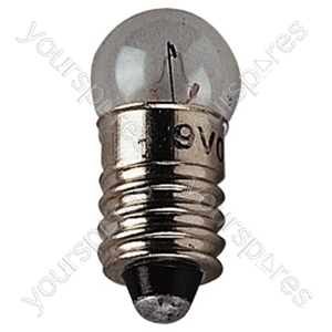 Clear MES Screw Fitting Bulb - Voltage 9V