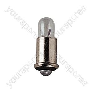 Clear 1.2 V 300 mA Midget Flange Bulb