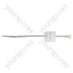 Self Adhesive Cable Tie Base - Size 6x21x21mm