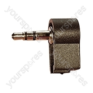 3.5 mm Right Angled Stereo Plastic Jack Plug with Solder Terminals