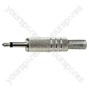 3.5 mm Mono Metal Jack Plug with Solder Terminals