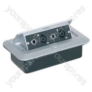 Pop-up AV Combination Plate with Jack Sockets & 4 Pole Sockets