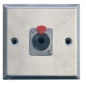 Metal AV Wall Plate with 1 x 6.35 mm Jack Socket