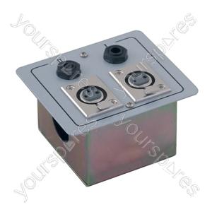Metal AV Wall Plate with XLR Sockets & 6.35 mm Jack Sockets