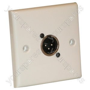 AV Wall Plate with 1 x 3 Pin Male XLR Socket (NC3MDL1)