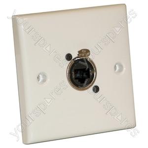 AV Wall Plate With 1 x Ethercon Socket(NE8FDV)