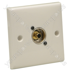 AV Wall Plate With 1 x Phono Socket (NF2D-0)