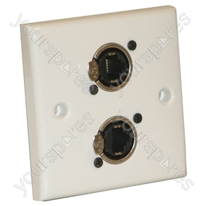 AV Wall Plate With 2 x Ethercon Socket(NE8FDV)