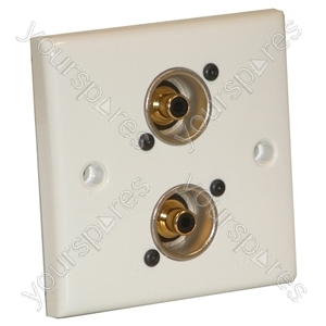 AV Wall Plate With 2 x Phono Socket (NF2D-0)