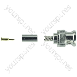 BNC Crimp Type Line Plug 50 Ohm