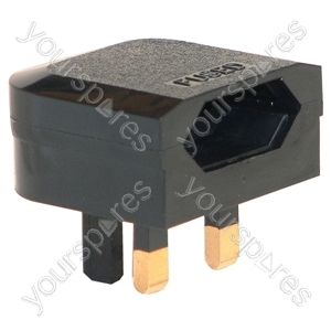 3 A Fused Euro Converter Euro Plug to 3 Pin UK Plug