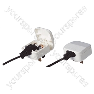 5 A Fused Euro Converter Plug 2 pin transformer Plug to 3 Pin UK Plug