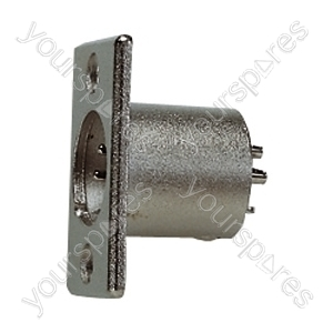 4 Pin XLR Male Chassis Plug with Solder Terminals