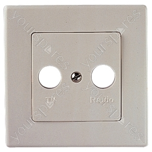 Wall Plate Cover For Coaxial Wall Outlets