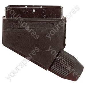 21 Way Scart Line Plug With Plastic Cover and Crimp Terminals